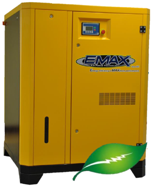 EMAX ERV0500003D 50 HP Variable Speed Rotary Screw Air Compressor