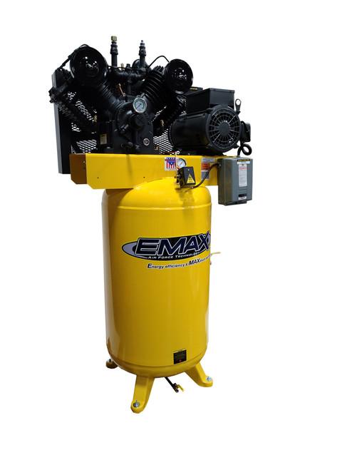 EMAX EI10V080V1 10 HP Single Phase 80 Gallon Industrial Air Compressor