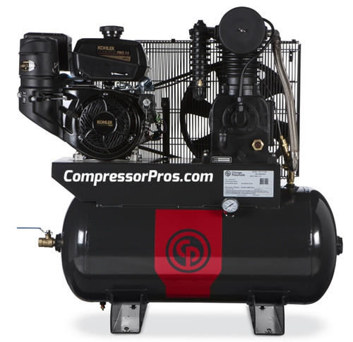 Chicago Pneumatic RCP-C1430G 14 HP Kohler Gasoline Driven Two Stage Cast Iron 30 Gallon Air Compressor