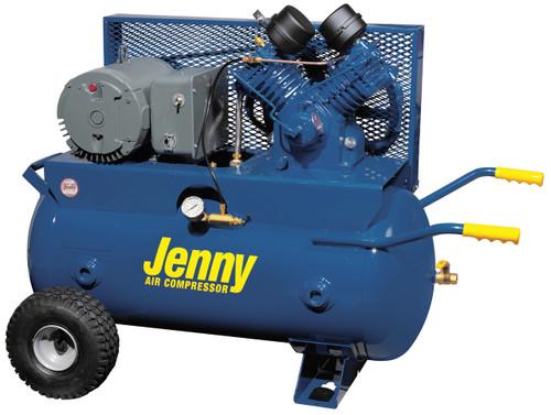 Jenny GT5B-30P 5 HP 230 Volt Single Phase 30 Gallon Portable Air Compressor