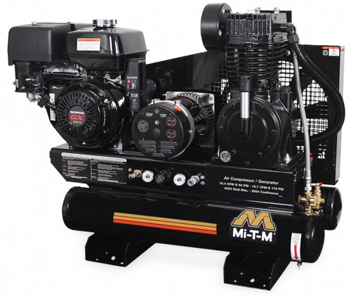 Mi-T-M AG2-SH13-08M1 13 HP Honda Powered Twin Tank Air Compressor/Generator Combo