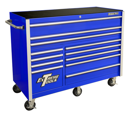 """Extreme Tools RX552512RCBL 55"""" 12 Drawer Roller Cabinet"""