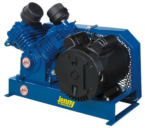 Jenny G5S-BS 5 HP 230 Volt Three Phase Single Stage Base Mount Fire Sprinkler System Air Compressor