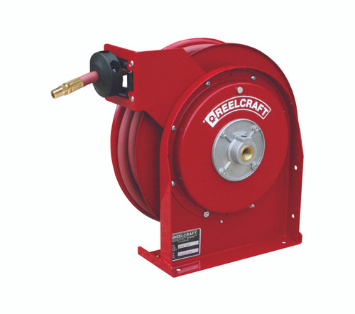 Reelcraft 4425 OLP Premium Duty Spring Retractable Hose Reel with 25 Feet of Hose