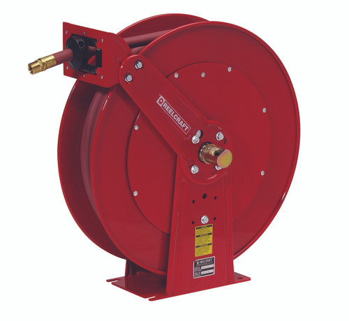 Reelcraft 83050 OLP Heavy Duty Dual Pedestal Hose Reel with 50 Feet of Hose 3/4""