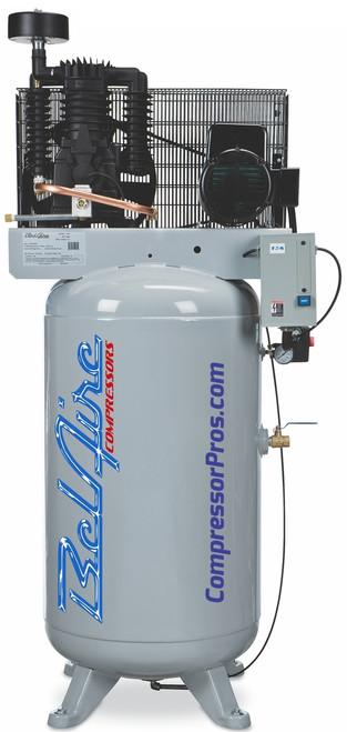 BelAire 318VLE 7.5 HP 208-230 Volt Single Phase Two Stage 80 Gallon Full Featured Air Compressor