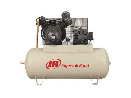 Ingersoll Rand 7100E15-VP 15 HP 120 Gallon Horizontal Air Compressor Value Plus(460 Volt)
