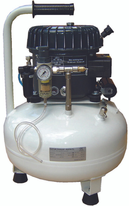 Val-Air 50-24 AL 1/2 HP Single Phase 6 Gallon Silent Air Compressor by Silentaire Technologies 220V Single Phase