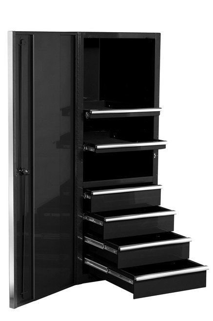 "Extreme Tools EX2404SCBK 24"" 4 Drawer Professional Side Cabinet Black"