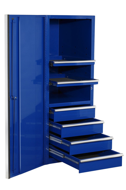 """Extreme Tools EX2404SCBL 24"""" 4 Drawer Professional Side Cabinet Blue"""