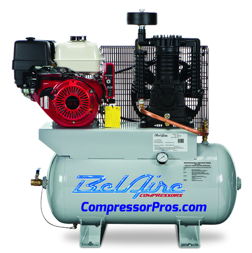 BelAire 3G3HH 11 HP Honda Two Stage Gasoline Driven 30 Gallon Air Compressor