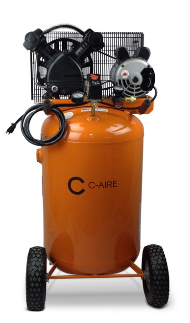 C-Aire P016V030-1115 1.6 HP 115 Volt 30 Gallon Vertical Portable Air Compressor