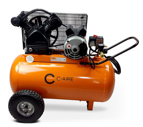 C-Aire P016H020-1115 1.6 HP 115 Volt 20 Gallon Horizontal Portable Air Compressor