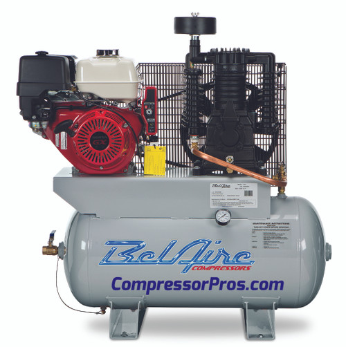 BelAire 3G3HHL 13 HP Honda Two Stage Gasoline Driven 30 Gallon Air Compressor