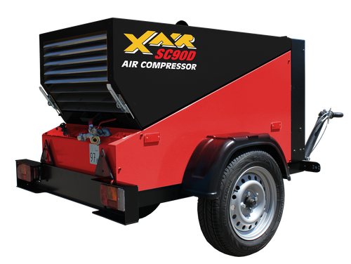 ConX X Air SC90DT Compact 90 CFM Engine Driven Tow Behind Rotary Screw Air Compressor