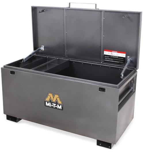 Mi-T-M MB-4822 Jobsite Box 13.44 Cubic Feet Storage (Shown with Optional Tool Tray)