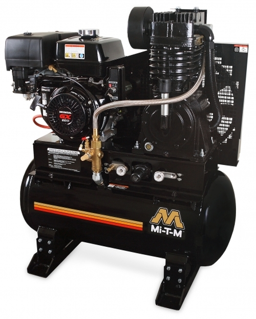 Mi-T-M ABS-13-30H 13 HP Honda Gas Drive 30 Gallon Service Truck Air Compressor