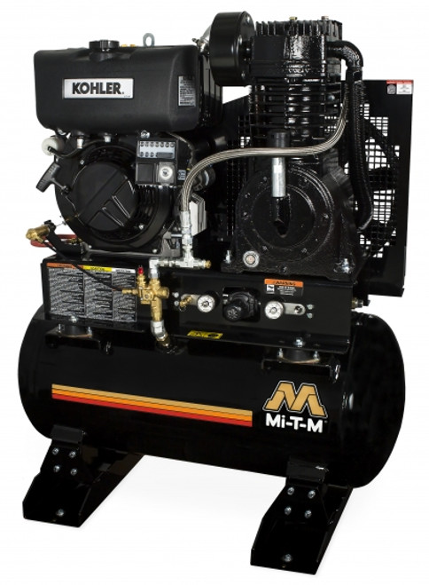 Mi-T-M ABS-9KD-30H 9 HP Diesel 30 Gallon Service Truck Air Compressor