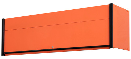 "Extreme Tools DX722101HCORBK 72"" x 21"" Hutch Orange with Black Drawer Pulls"