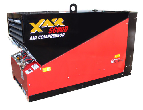 ConX X Air SC90D Compact 90 CFM Diesel Engine Driven Skid Mount Rotary Screw Air Compressor