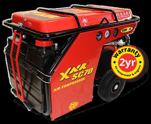 ConX X Air SC70-150 Compact 70 CFM Engine Driven Rotary Screw Air Compressor