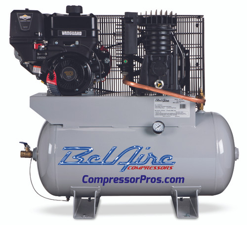 BelAire 59G3HB 10 HP Briggs Vanguard Gasoline Driven Two Stage 30 Gallon Air Compressor