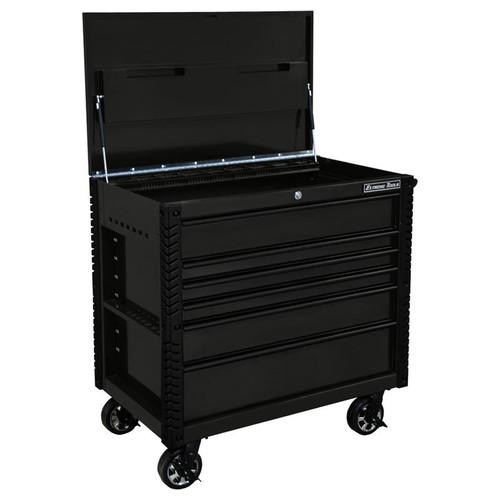"Extreme Tools EX4106TCMBBK 41"" 6 Drawer Tool Cart - Matte Black  with Black Drawer Pulls"
