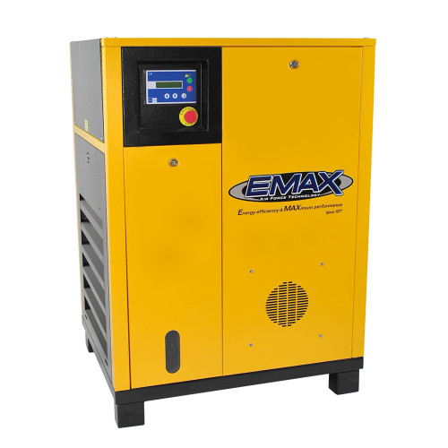 EMAX ERS0100001 10 HP Single Phase Base Mount Rotary Screw Air Compressor