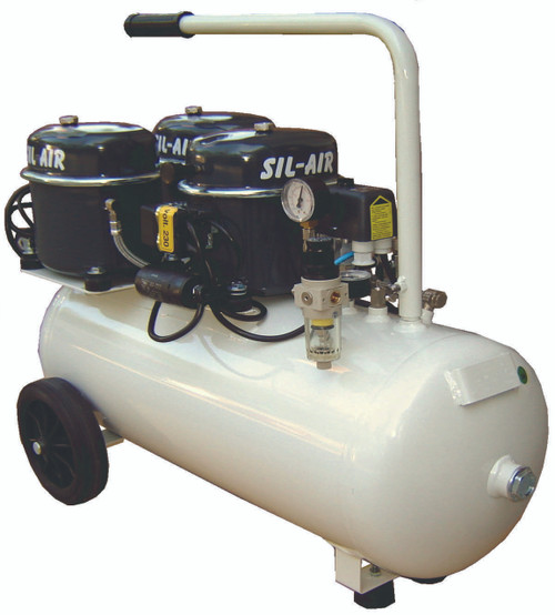 Sil-Air 150-50 3 x 1/2 HP Single Phase 13 Gallon Silent Air Compressor by Silentaire Technologies