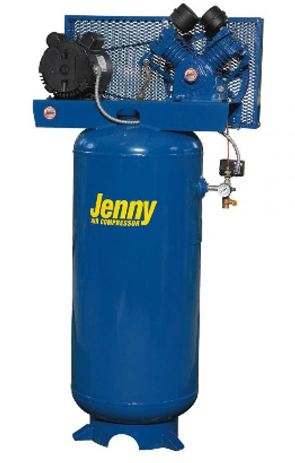 Jenny J5A-80V 5 HP Single Phase Single Stage 80 Gallon Air Compressor
