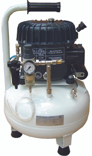 Val-Air 50-15 AL 1/2 HP Single Phase 4 Gallon Silent Air Compressor by Silentaire Technologies