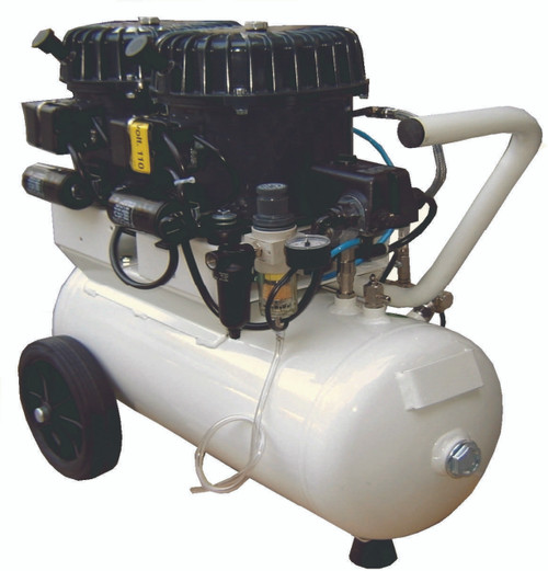 Val-Air 100-24 AL 2 x 1/2 HP Single Phase 6 Gallon Silent Air Compressor by Silentaire Technologies