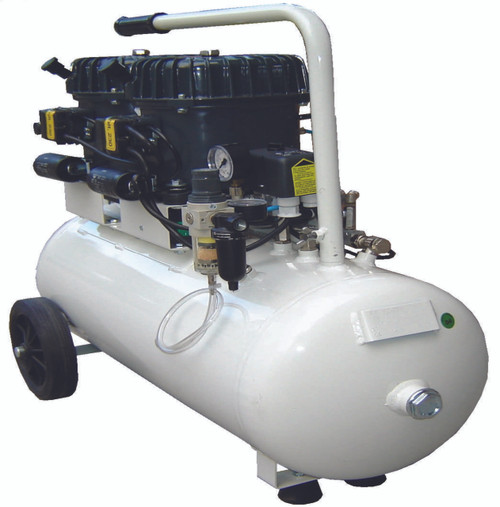 Val-Air 100-50 AL 2 x 1/2 HP 110 Volt Single Phase 13 Gallon Silent Air Compressor by Silentaire Technologies