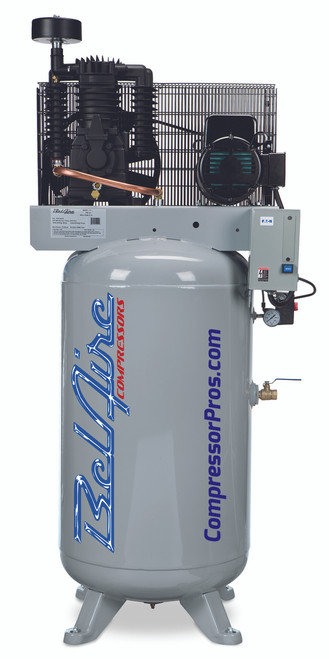 BelAire 318VN 5 HP 208-230 Volt Single Phase Two Stage 80 Gallon Air Compressor