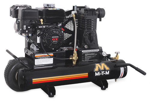 Mi-T-M AM1-PH65-08M 6.5 HP Honda Gasoline Driven Single Stage Portable Air Compressor