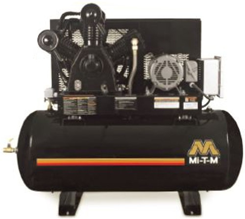 Mi-T-M ADS-23110-120HM 10 HP 230 Volt Three Phase Two Stage 120 Gallon Air Compressor