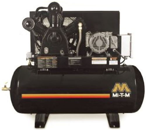 Mi-T-M ADS-23110-120HM 10 HP 230 Volt Three Phase Two Stage 120 Gallon Air Compressor