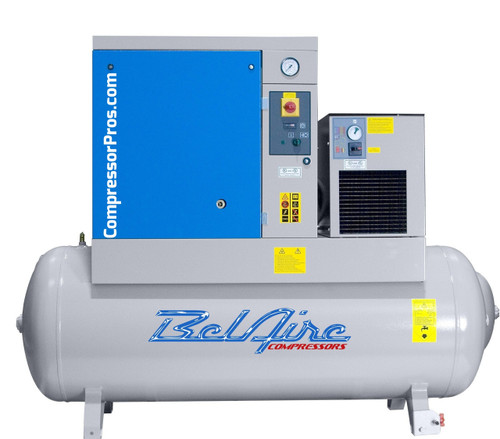BelAire BR10253D 10 HP 125 psi Rotary Screw Air Compressor with Dryer