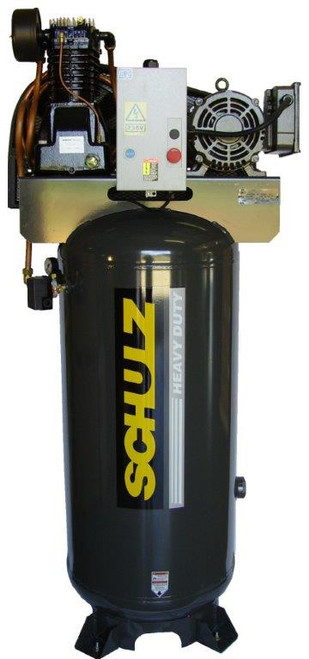 Schulz 7580VL30X-1 7.5 HP Single Phase Two Stage 80 Gallon Air Compressor