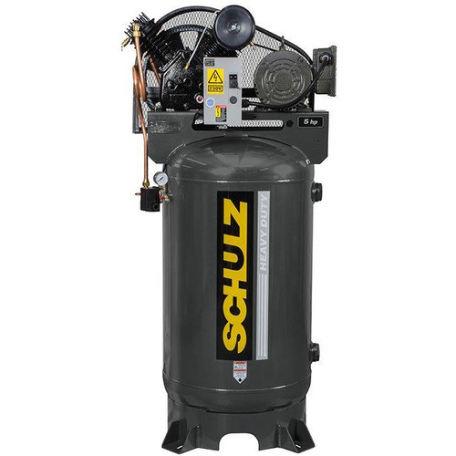 Schulz 580VV20X-1 5 HP 230 Volt Single Phase Two Stage 80 Gallon Air Compressor