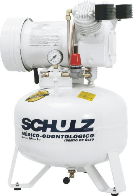 Schulz MSV 6/08 1 HP 115 Volt 6 CFM 8 Gallon Oil Free Air Compressor