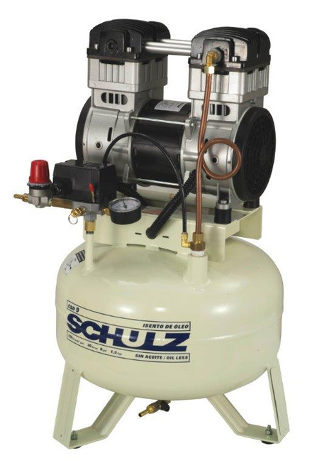 Schulz CSD 9/08 1.5 HP 115 Volt 9 CFM 8 Gallon Oil Free Air Compressor