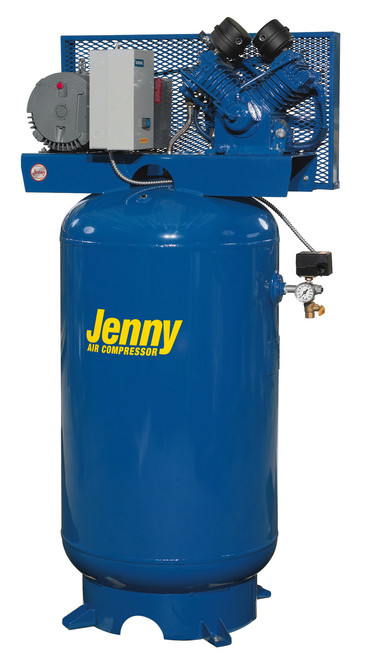Jenny GT5B-80V Two Stage 5 HP 230 Volt Single Phase 80 Gallon Air Compressor