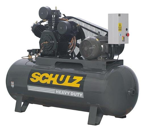 Schulz 15120HW60X-3 15 HP 460 Volt 3 Phase 60 CFM 120 Gallon Air Compressor