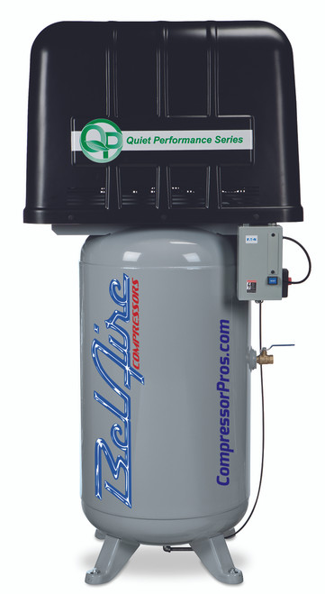 BelAire QP318VLE Quiet Power 7.5 HP 208-230 Volt Single Phase Two Stage 80 Gallon Air Compressor
