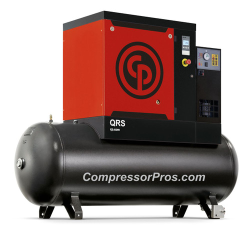 Chicago Pneumatic QRS10HPD-150 10 HP 3 Phase Rotary Screw Air Compressor with Dryer