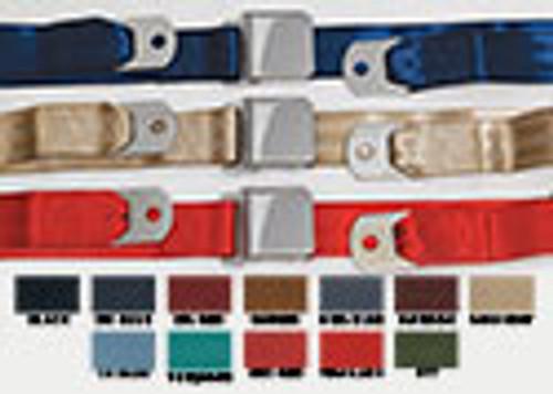 SEAT BELT MAROON VINTAGE STYLE 65/73