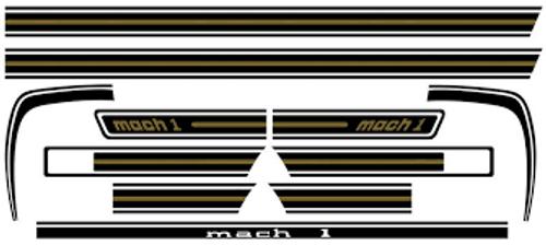 MACH 1 DECAL KIT BLACK & GOLD 1969