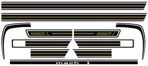 MACH 1 DECAL KIT BLACK & GOLD 1969