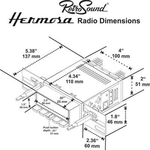 RETROSOUND MODEL 2 AUDIO UNIT 1967-73